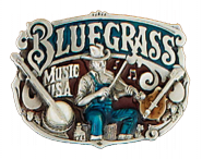 Gürtelschnalle - Bluegrassmusic USA